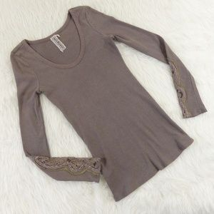 Free People Crafty Cuff Mocha Brown Thermal